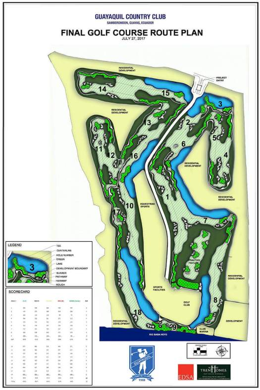 Final Golf Course Plan Guayaquil Country Club Samborondon Ecuador